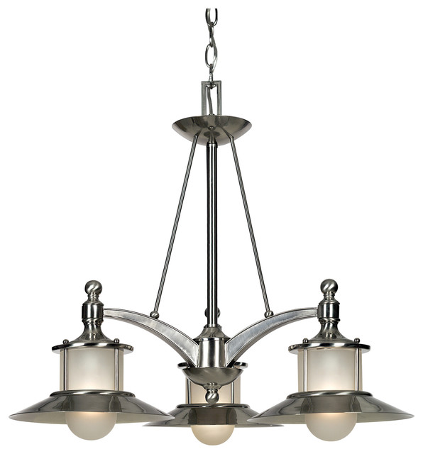 New England Brushed Nickel Traditional Chandeliers