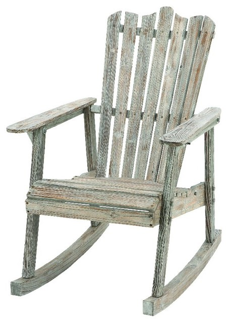 Old Fashioned Rocking Chair Wood Weathered Home Patio