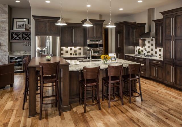 Rustic Modern Lake House - Transitional - Kitchen - Omaha ...