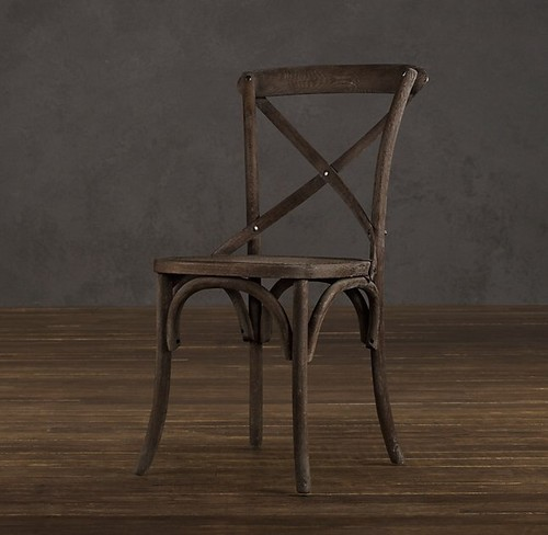 RH Madeleine chairs with caned seats with kids