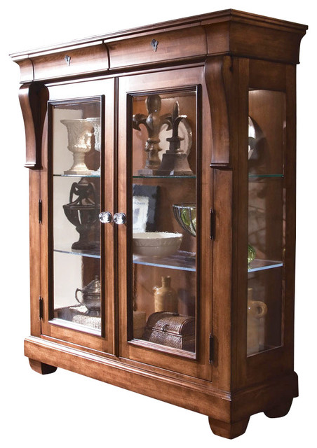 Kincaid Tuscano Solid Wood Display Cabinet  Traditional  China Cabinets And Hutches  by