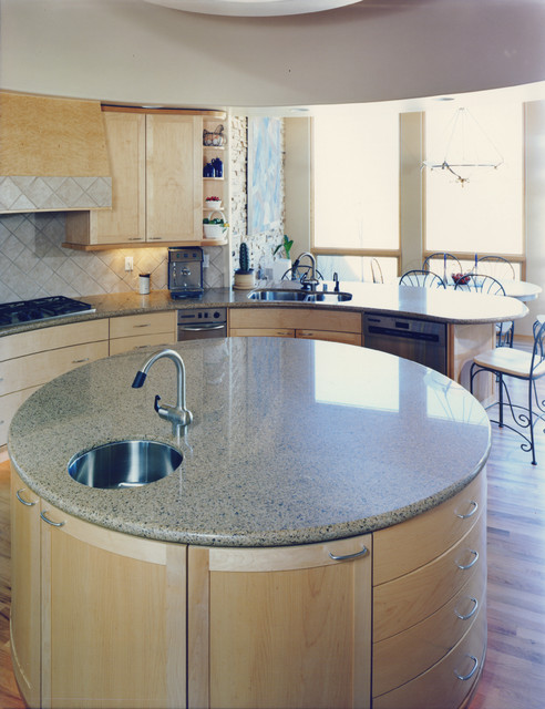 Artisan Stone Collection Round Granite Island  Modern