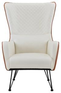 Mid-Century Faux Leather Armchair - Midcentury - Armchairs ...