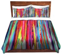 DiaNoche Duvet Covers Twill - Neon Abstract - Contemporary ...