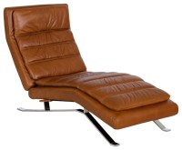 Nagalis Leather Chaise - Contemporary - Indoor Chaise ...