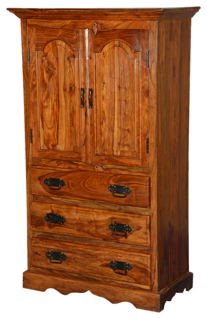 Pennsylvania Dutch Indian Rosewood Wardrobe Cabinet  Dresser  Rustic  Armoires And Wardrobes