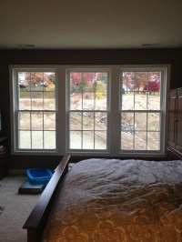Need curtain advice for bedroom with 3 windows...