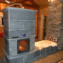 Decorating Ideas For Big Living Room Wall How To Buy Furniture Soapstone Masonry Fireplace - Rustic Family Other ...