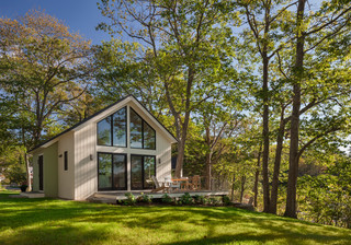 Houzz Tour: Coastal Maine Home Celebrates White, Wood And Windows ( Photos)