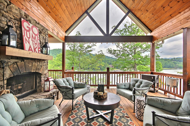 LakeSide Cottage at Lake Chatuge rustic-deck