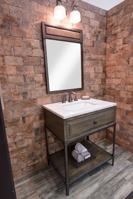 Single Sink Bathroom Vanity  Industrial  Bathroom
