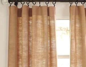 Burlap Grommet Curtains Design Decor Photos Pictures