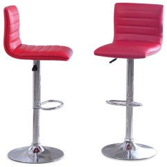 Leather Pub Chair Custom Poker Tables And Chairs Set Of 2 Bar Stools Pu Adjustable Barstool Swivel Contemporary Counter By Onebigoutlet