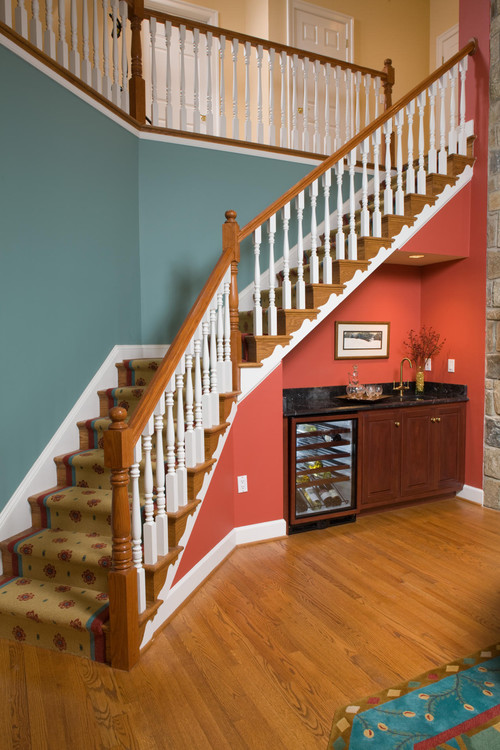 wall colors, under stairs, stair well and upstairs hallway