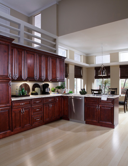 B Jorgsen & Co St James Mahogany Kitchen Cabinets By Cabinets To Go