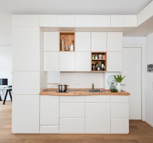 Klein aber fein – Teil des großen Möbels ist die Küche.