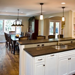 Small Open Plan Kitchen Diner Living Room Modern Country Style Designs - Dining Traditional San ...