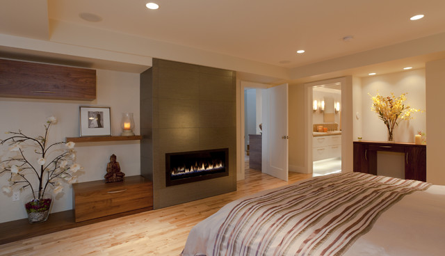 master suite build-out of garage, master buildroom with fireplace