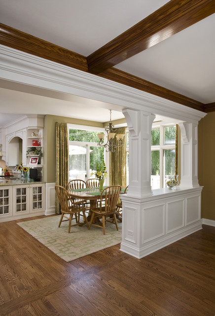 Transition From Family Room To Breakfast Room