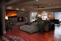 Hardwood floors - Modern - Living Room - Wichita - by ...