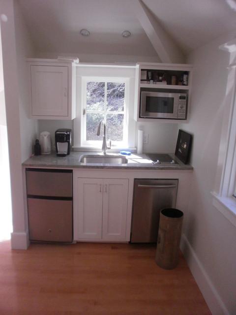 Studio Over Garage Kitchenette Transitional Kitchen