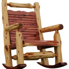 Cedar Rocking Chairs Metal Kitchen Chair Rustic Outdoor By Fine Wood Carvings And Furniture