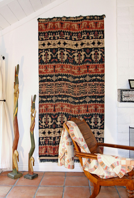 Antique Wall Hanging from Sumba Indonesia eclectic-living-room