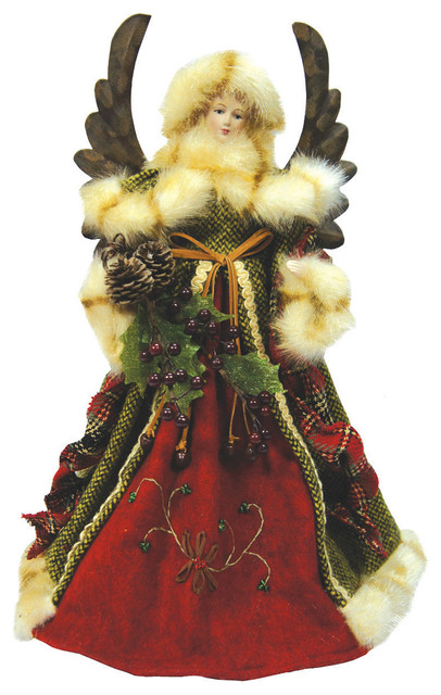 16 Green Forest Angel Tree Topper Traditional