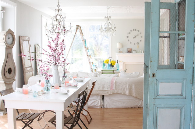 Dreamy Whites shabby-chic-style-dining-room