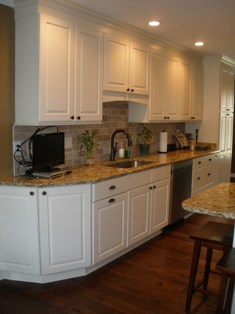 off white kitchen cabinets ideas for galley - traditional other by ...