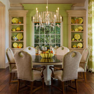 Dove Chandelier  Tropical  Dining Room  Miami  by