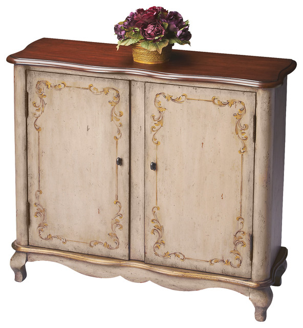 Butler Console Cabinet  Traditional  Accent Chests And