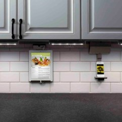 Fluorescent Kitchen Lighting Ideas Aid Gas Stove Legrand Under Cabinet Power Strip – Home Decor