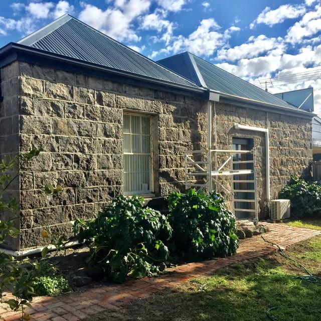 Bluestone Cottage Stone Facade Restoration. Willis Street, Winchelsea victorian