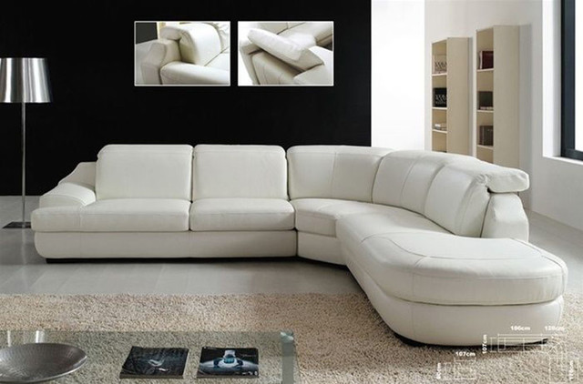 Lounge Leather Sectional Sofa Chaise