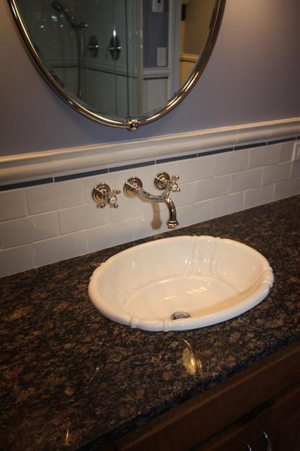 Subway Tile Backsplash Traditional Bathroom