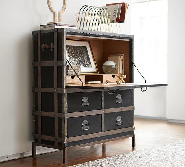 Ludlow Trunk Secretary Desk  Contemporary  by Pottery Barn