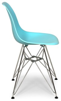 Molded Plastic Shell Dining Chair Blue - Midcentury ...