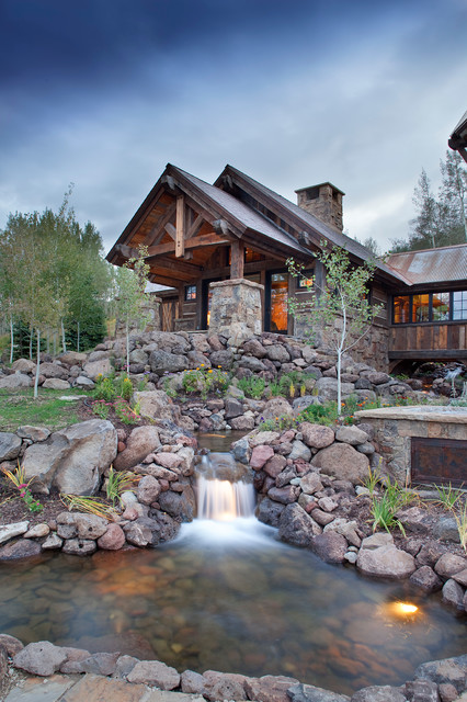 style rustic mountain lodge