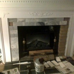 Lowes Decorating Ideas For Living Rooms Nice Mirrors Room Fireplace Mantle- Cover Ugly Brick - Traditional ...