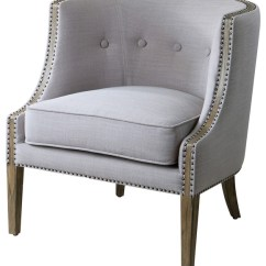 Barrel Back Chair Where To Get Chairs Reupholstered Lyla Modern Classic Soft Gray Hammered Living Room By Kathy Kuo Home