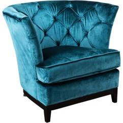 Teal Accent Chair White Covers In Bulk Anabella Fabric Tufted Sofa Transitional Armchairs And Blue