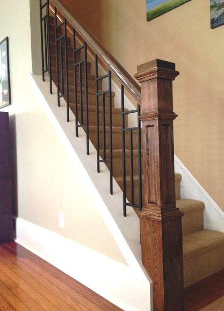 Mission Craftsman Style Craftsman Philadelphia By   Craftsman Style Stair Railing