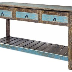 Sofa Console Tables Wood Come Bed Design With Low Price Rustic Reclaimed Solid Table Distressed Entry Way