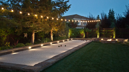 What Kind Of Light Is Installed In The Bocce Ball Court