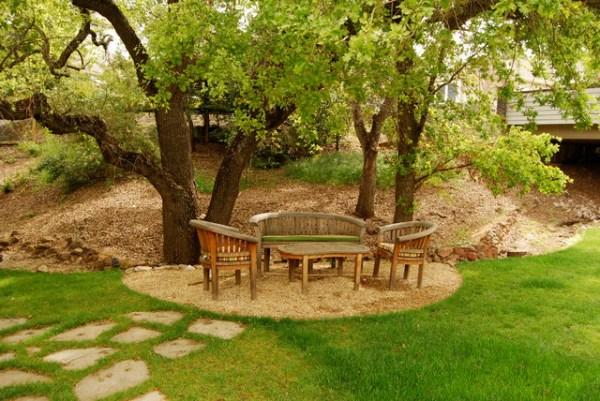 oak tree retreat - contemporary