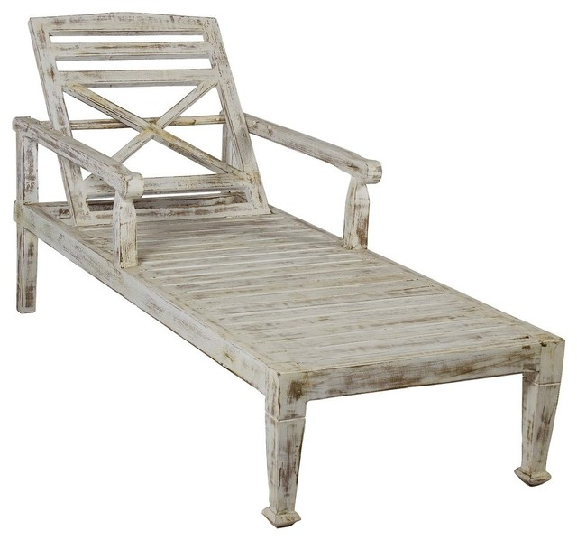 antique beach chair covers no arms solid teak wood outdoor chaise lounge white style lounges by favors international inc