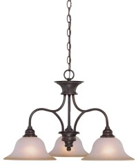 Jeremiah Linden Lane Oiled Bronze Casual Chandelier w/ 3 ...
