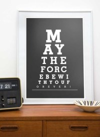 Star Wars Typography Art Poster by ReStyle Shop