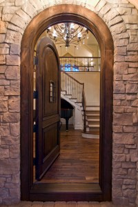 Archway Door Casing & Arched Wrought Iron Entry Doors